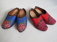 Socos forrados com os lenços de Viana | Calçado rústico e tradicional - Marta Prozil - Atelier de Artesanato de Viana