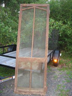 GROCERY SCREEN DOOR Vintage Wooden Door by FindsandFurnishings, $125.00