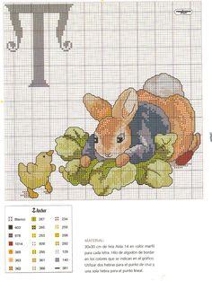 Rabbit cross stitch