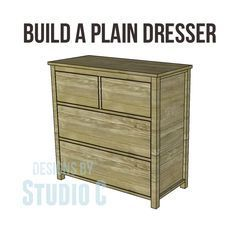 Free DIY Woodworking Plans to Build a Plain Dresser When I first started woodworking, the first two projects I took on were dressers for my kids. I was (and still am) so proud of those pieces becau...