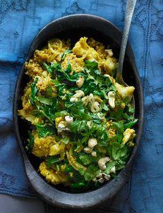 Quick and easy cauliflower and cashew biryani http://www.sainsburysmagazine.co.uk/recipes/mains/curry/item/cauliflower-and-cashew-biryani