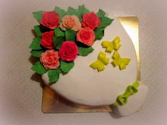 "Торт ""Букет"" Cake Gum paste Rose https://vk.com/svetkintort"