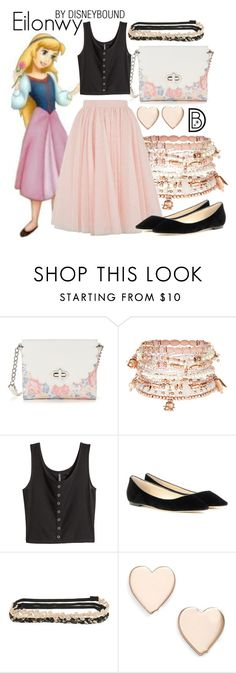 """""""Eilonwy"""" by leslieakay ❤ liked on Polyvore featuring Candie's, Accessorize, H&M, Ted Baker, Jimmy Choo, Aéropostale, Poppy Finch, disney, disneybound and disneycharacter"""