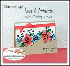 Stampin Up Love and Affection Stamp Set, Card by Sandi @ www.stampinwithsandi.com