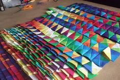 Alexandra Kingswell - finding new pattern by exploring the beauty of colour, number, sequence and proportion through the medium of fabric. Ribbon Crafts, Quilts, Fabric, Pattern, Color, Tejido, Colour, Patch Quilt, Kilts