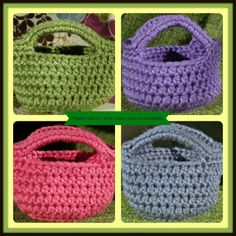 Crochet Easter Basket  Boys and Girls by RachelsCozyCrochet