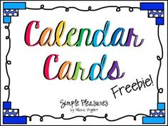 These colorful calendar cards are sure to brighten up your room! I made these for my pocket chart calendar (which I love!) because I wanted some bright and colorful cards to go with my chalkboard theme this year. Included in this freebie are as follows (there are two versions of all the cards - a dark background and a white background): --Months --Days of the week (2 sizes) --Dates --Years (up to 2022 and blanks) --Balloon/birthday cards --Blank cards in the pdf and in png format.