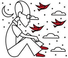 Tal qual uma lâmina, poeta, tu nos atravessa. Considerações sobre a poesia no país de Carlos Drummond de Andrade. Texto: Tarso de Melo. Ilustração: Hallina Beltrão. Suplemento Pernambuco, edição 136, junho de 2017.