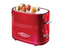 Nostalgia Electrics HDT-600RETRORED Retro Series Pop-Up Hot Dog Toaster $19.00 #retro #hot dog toaster