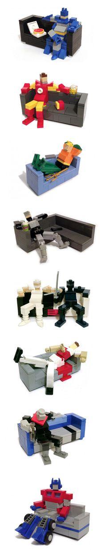 Superhéroes hechos con LEGO