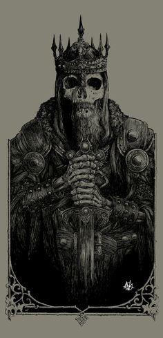 Мрачные картинки,красивые картинки,art,арт,by Vance Kelly,dead king