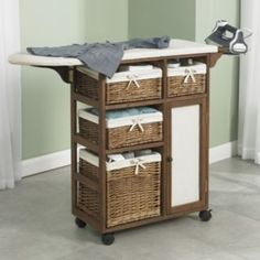 Ironing Board with Storage, I like the idea if you have a sewing room or…