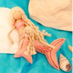 Waldorf mermaid bendy doll baby