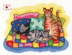 Bothy Threads - Love Cats 1 - XLoC1 #crossstitch #crossstitching #crossstitchkits #bothythreadscrossstitchkits