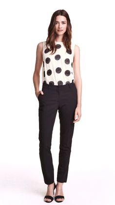 Kostymbyxor , svart