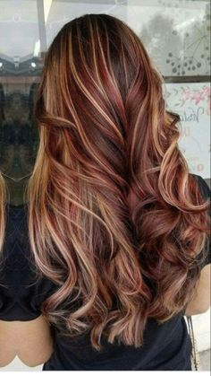 Hair color hair color for summer red hair gray hair hair color hair color for Hair Color Ideas For Brunettes Color gray Hair red Summer Curly Hair Types, Colored Curly Hair, Perfect Hair Color, Cool Hair Color, Hair Color With Red, Red Hair With Ombre, Types Of Hair Color, Red Ombre, Hair Color Highlights