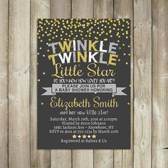 TWINKLE TWINKLE Little Star Baby Shower by FavoriteThingsDesign