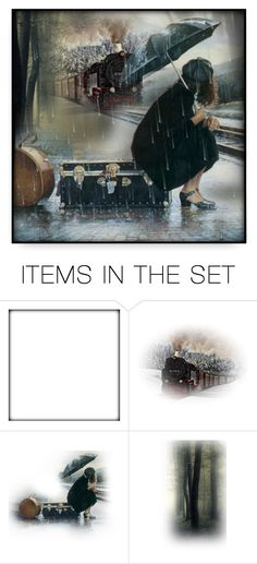 """""""Waiting For The Train"""" by debraelizabeth ❤ liked on Polyvore featuring art"""