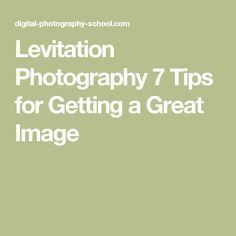 Levitation Photography 7 Tips for Getting a Great Image