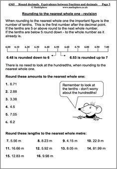 Decimal, 5th grade math and Math skills on Pinterest