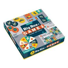 The Transportation Big Box of Games from Mudpuppy is jam-packed full of fun! Each box includes a memory game, dominoes, a spinner game, and bingo- all with art featuring modes of transportation.- Memory game includes 24 matching tiles- Dominoes in Games Box, Bingo Games, Card Games, Board Game Box, Board Game Design, Rush Hour Game, Best Toddler Toys, Gaming, Preschool Games