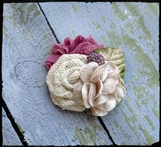 Country shabby chic burlap velvet flower hair clip. Custom orders welcome! More colors available upon request. Bridesmaids, flower girls, bridal hair accessories. Check out this item in my Etsy shop https://www.etsy.com/listing/232042720/burlap-flower-clip-dusty-rose