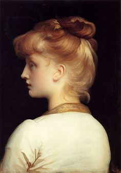 Pre-Raphaelite Paintings: No.93 - A Girl, by Frederick Leighton