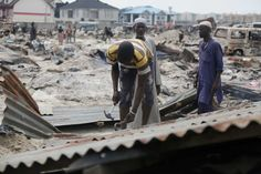 """LAGOS, Nigeria (AP) — Amnesty International says as many as 30,000 people in Nigeria's commercial capital of Lagos are homeless after their community was set ablaze and demolished this week.  Lagos officials have warned that makeshift waterfront settlements pose a """"security threat"""" and must be razed, a process that could affect hundreds of thousands of people."""