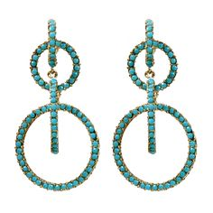 Double Hoops: Love the Turquoise