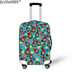 Fashion Travel Cute Pandas Heart Print Pink Luggage Suitcase Protector Washable Baggage Covers