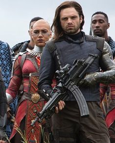 Sebastian Stan Avengers infinity War 2018>> Bucky Barnes...giving women unrealistic hair expectations since 2014