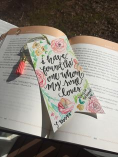 Handmade bible verse bookmark by LyndsieRooksCreation on Etsy https://www.etsy.com/listing/268773437/handmade-bible-verse-bookmark
