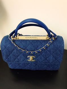 Chanel trendy cc denim bag, D'ART 2017  In style .. light weight with rooms