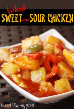 Baked Sweet and Sour Chicken -