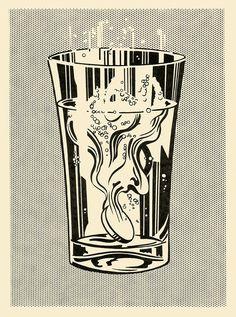 """frequencebariole: """"Roy Lichtenstein - painting - """" Alka Seltzer """" - 1966 """""""