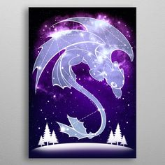 Starry Constellations poster prints by Venetia Jackson Constellations, Eden Design, Starry Lights, Httyd Dragons, Pinturas Disney, Mythical Creatures Art, How To Train Your Dragon, Jackson, Tree Art