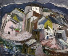 Corsican Village c.1955 by Anne Redpath (Scottish 1895–1965)
