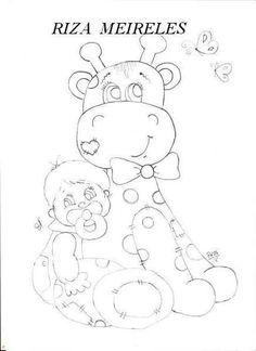 Girafa e bebê