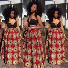 Black woman with natural hair. http://www.shorthaircutsforblackwomen.com/african-dresses/ #BlackBeautyGirls #BlackGirls