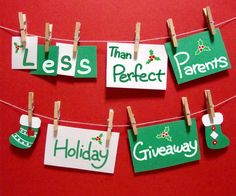 2014 Less Than Perfect Parents Holiday Giveaway Holiday Parties, Holiday Decor, Holiday Desserts, Gift Card Giveaway, All Gifts, Amazon Gifts, Secret Santa, Giving, Birthdays