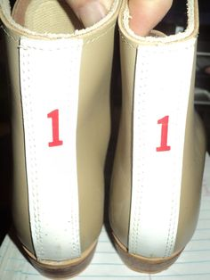 Vintage Riedell tan skate boots red wing minnesota child size 1  #riedell