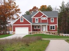 red house exterior colors