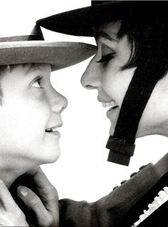 Audrey Hepburn and her son, Sean, photographed by William Klein, 1965.