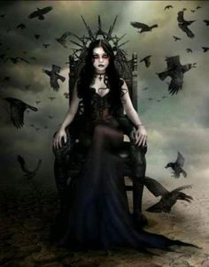 Dark Gothic art can represent a lot of things to different people, as it can be very disturbing with some of its images, and at other times . Dark Fantasy Art, Dark Gothic Art, Foto Fantasy, Dark Art, Fantasy Queen, Fantasy Girl, Dark Beauty, Gothic Beauty, Beauty Art