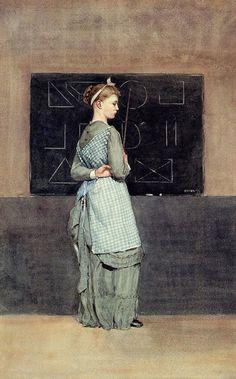 Blackboard, 1877 by Winslow Homer (1836-1910) - Watercolor http://upload.wikimedia.org/wikipedia/commons/6/6a/Blackboard_by_Winslow_Homer%2C_1877.png (Thx Marie-Louise)