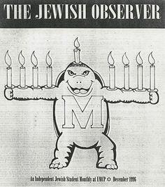 Testudo the menorah, via Flickr.