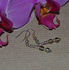 GLASS SEED BEAD EARRINGS - Nice handmade Easter gift ! £0.99