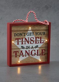 LED Slogan Christmas Box (18cm x 18cm)