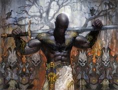 Tagged with art, fantasy, dnd, dungeons and dragons, fantasy art; Fantasy art dump - D&D Character Inspiration Fantasy Inspiration, Character Inspiration, Character Art, Fantasy Warrior, Art And Illustration, African American Art, African Art, Fantasy Kunst, Fantasy Art