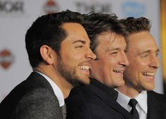 Zachary Levi, Nathan Fillion and Tom Hiddleston. Any argument you thought of having is already invalid.